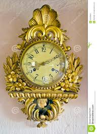 retro ornamental clock on wall royalty free stock images image