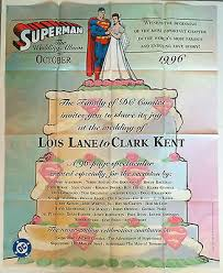 superman the wedding album superman the wedding album 1996 poster dc comics lois clark