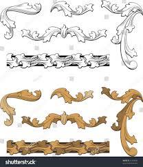 classic ornaments corners frieze stock vector 31318339