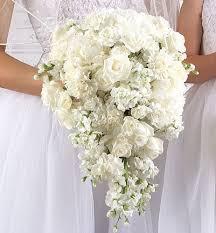 Cascading Bouquet White Cascading Bouquet Damas Flowers