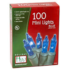 light set blue 100 mini