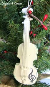 violin tree ornament lights decoration