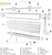 Replacement Cords For Blinds Easy Rise Cellular Honeycomb Shade Diagram With A Hunter Douglas