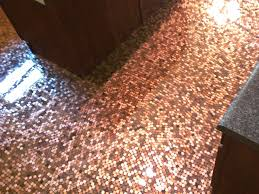 seen a floor made with pennies and epoxy resin
