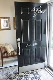 Paint A Front Door Front Doors Charming Painting Front Door Black Painting The