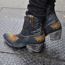 old gringo eagle boots shortie with zipper and high heel