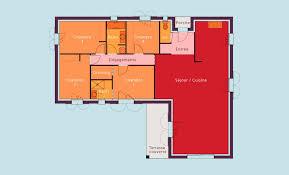 chambre en l devis plan constructeur maison en l plain pied en 3 pentes dans le