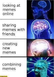 Online Friends Meme - brain meme looking at memes online sharing memes with friends