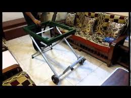folding table saw stand table saw stand folding diy youtube