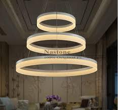 2 Light Pendant Fixture 1 Ring 2 Ring 3 Rings Circles Modern Led Pendant Lights For Dining