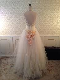 lazaro low back buttercup tulle halter ballgown 3d flowers