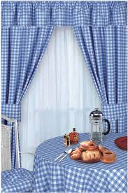 Kitchen Curtains Uk by Blue Colour Check Kitchen Curtains