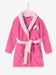 robe de chambre enfant fille robe de chambre fille reine des neiges rosé magenta vb