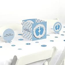Blue Baby Shower Decorations Baby Feet Blue Baby Shower Decorations U0026 Theme Babyshowerstuff Com