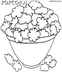 popcorn coloring pages coloring pages to download and print