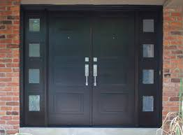 Metal Door Designs Solid Mahogany Exterior Front Double Door Prehung Finished Entry