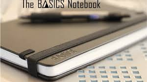 pens that write on black paper the basics notebook simplify and improve your life by jon all in one notebook with a 12 or 6 month planner lined or
