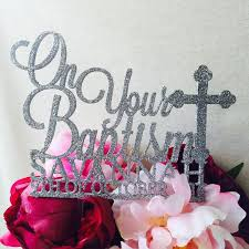 on your baptism cake topper personalised cake decoration