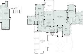 Floor Plans For Lake Homes by Contemporary Walk Out Basement House Plans Rear View Base Model