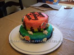 Rainbow Tropical Fish Cake Birthday Cakes Tropical Fish And The