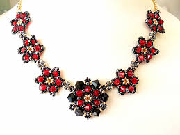 jewelry making necklace images Pretty petals beadwork necklace jewellery making kit with jpg