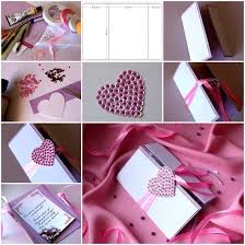 Designs Of Making Greeting Cards For Valentines Diy Heart Valentine U0027s Day Card Handmade Greetings And Diy Ideas
