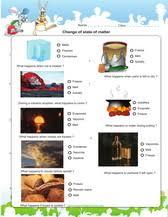 change of state of matter games worksheets for kids