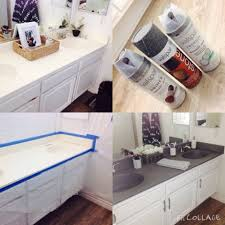 Bathroom Countertop Tile Ideas Diy Painting Bathroom Countertops Using Stone Spray Paint