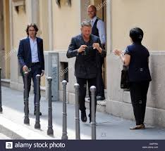 lapo elkann leaves the four seasons hotel milan in his car to go