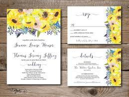 wedding invitations details card custom sunflower wedding invitations for your big day