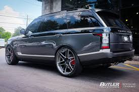 matte blue range rover land rover range rover with 24in vellano vkj wheels exclusively