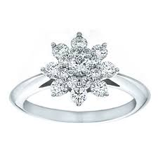flower engagement rings european engagement ring flower diamond engagement ring 0 63 tcw