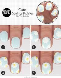 spring daisy nail art tutorial more com