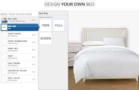 design your own bed with pbteen