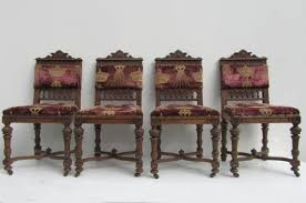 antique belgium carved oak dining chairs set of 8 for sale at pamono