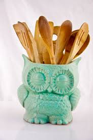 ceramic owl planter in mint large vintage style home decor 55 00