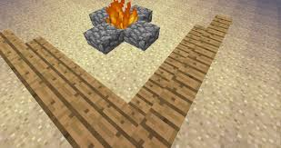 How To Make Firepit by How To Build Stuff In Minecraft Fire Pit Youtube