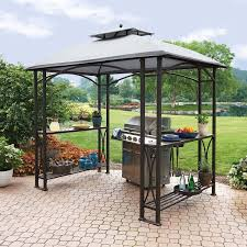 Metal Pergolas With Canopy by Amazon Com Member U0027s Mark Grill Gazebo Patio Lawn U0026 Garden