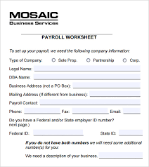 Free Excel Payroll Template 5 Payroll Worksheet Templates Free Excel Documents