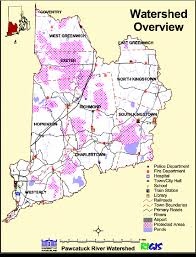 Rhode Island Rivers images Map of the ri portion of the wood pawcatuck river watershed png