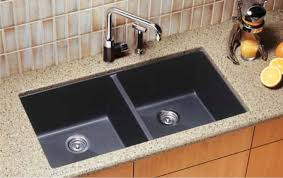 decorating double bowl blanco sinks plus matching kitchen faucet