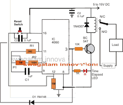simple adjustable industrial timer circuit homemade circuit