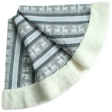 Moose Christmas Tree Skirt Popular Large Sherpa Blanket Buy Cheap Large Sherpa Blanket Lots