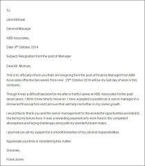 professional resignation letter resignation letter samples