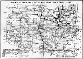 Usa Highway Map Oklahoma State Highway Map Oklahoma Usa U2022 Mappery
