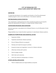 sample resume for teachers assistant in daycare center sample