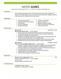 sample resume for preschool teacher with no experience templates