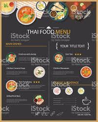 restaurants menu templates free vector thai food restaurant menu template flat design stock vector vector thai food restaurant menu template flat design royalty free stock vector art