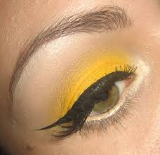 colors close to yellow make up tutorial how to yellow eye shadow and red lips youtube