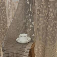 jacquard flower pattern net curtains for window elegant curtains